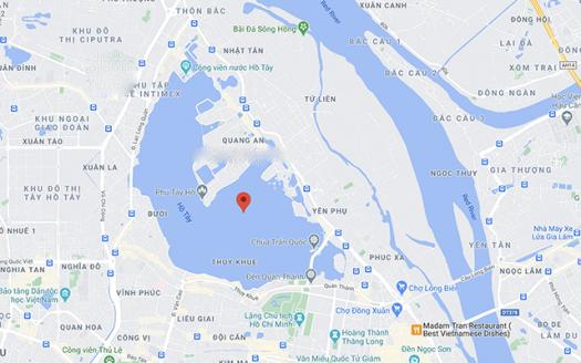 map of Tay Ho