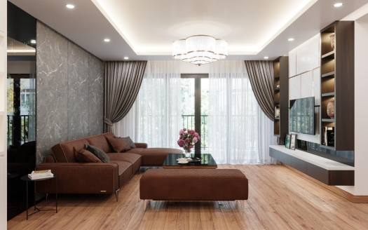 146 sq m, modern 3 bedroom apartment in Tay Ho, D'le Roi Soleil
