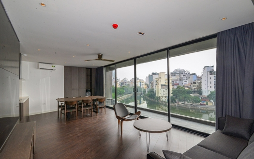 Brand new lake view 2 beds apartment in Truc Bach