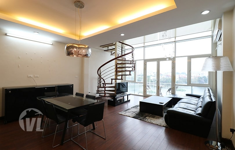 222 Gorgeous duplex to rent in Truc Bach Hanoi with lake view