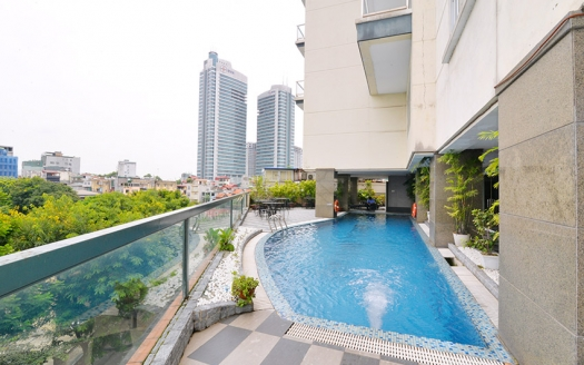 Serviced apartment 1 bedroom with swimming pool and gym in Truc Bach
