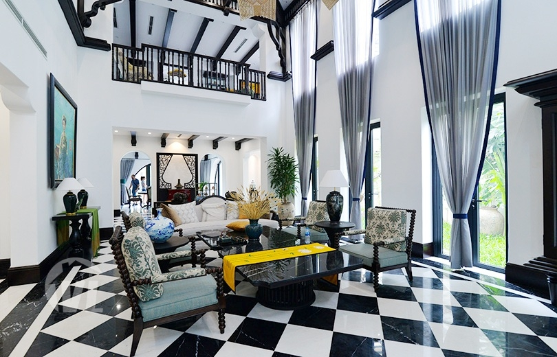 222 Huge Indochina style villa to lease in Vinhomes Riverside Hanoi