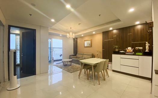 Furnished 3 bedrooms apartment in Aqua residence Truc Bach area