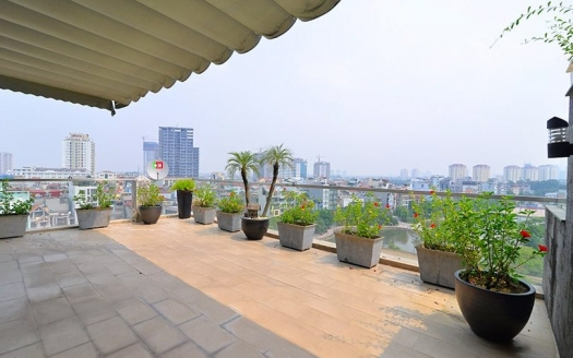 Furnished duplex apartment with terrace in Tay Ho district