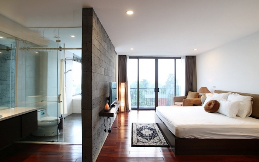 4 beds serviced apartment to rent in Tay Ho with open view