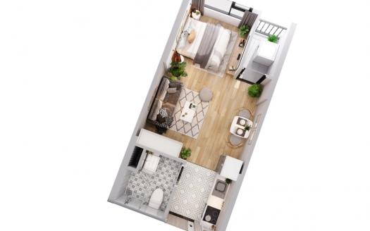 Studio apartment Imperia Smart City