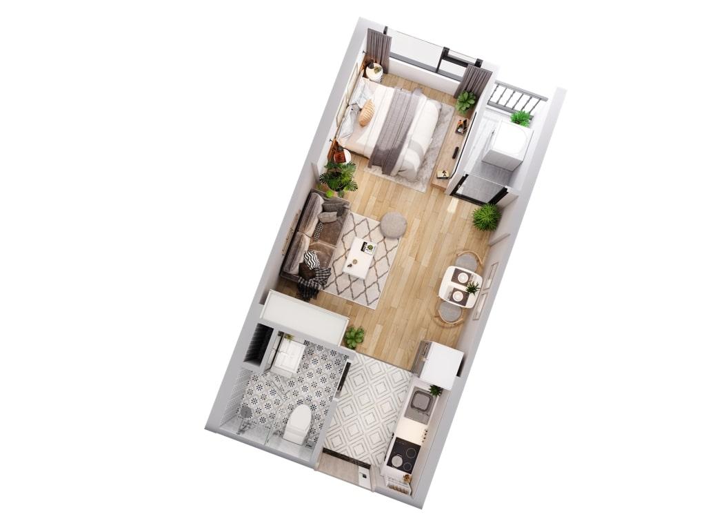 222 Studio apartment Imperia Smart City