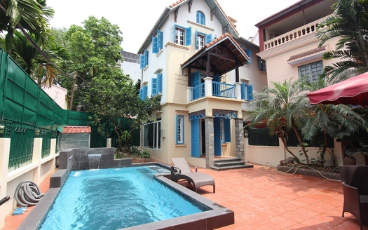 Renovated swimming-pool villa to lease in Tay Ho area Hanoi