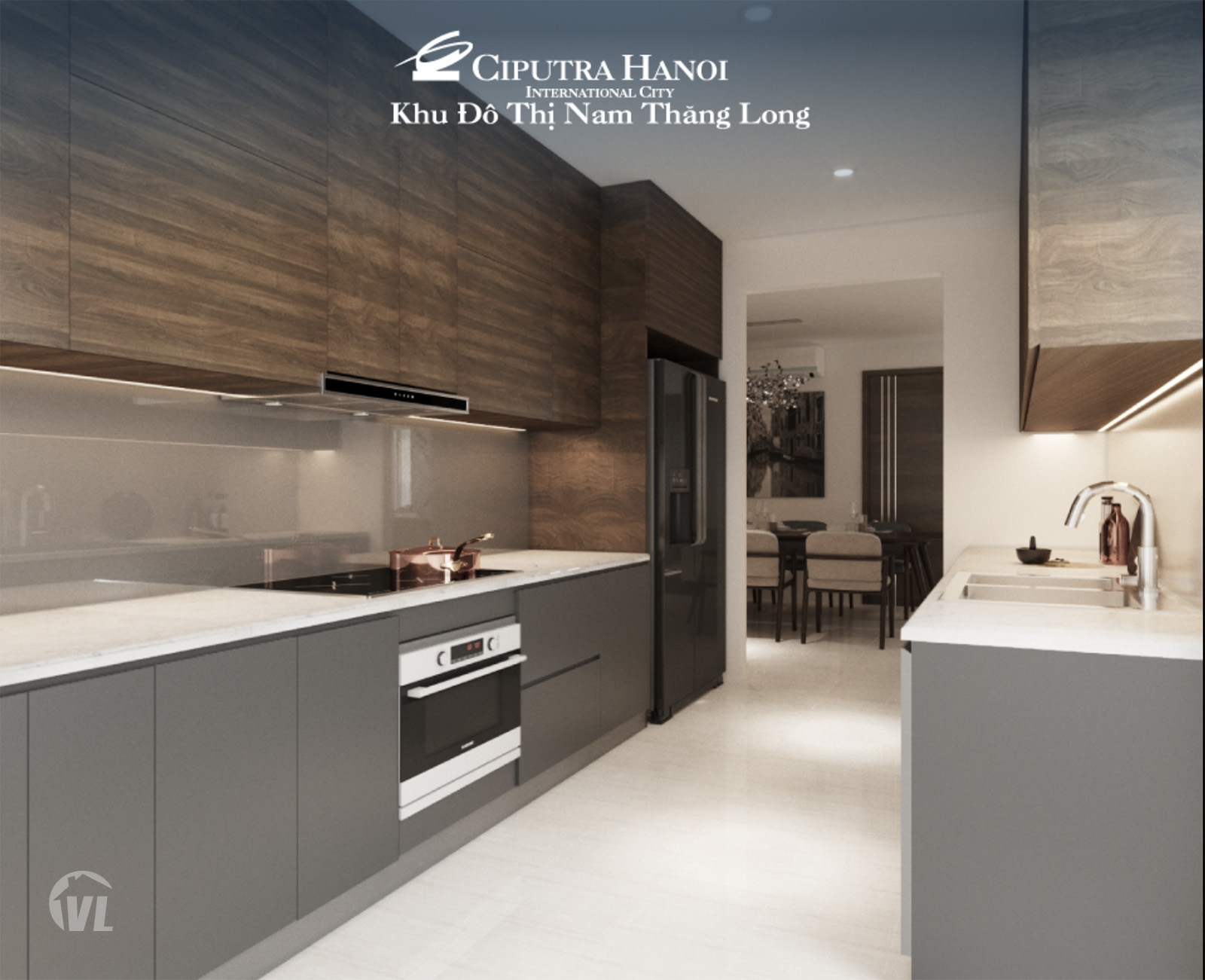 222 Ciputra the Link345 apartment for sale kitchen