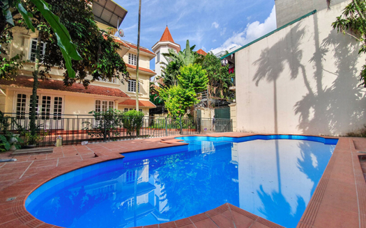 Amazing pool villa with garden to lease in Tay Ho 4 beds 4 baths