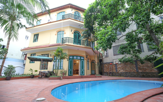 Gorgeous swimming pool villa in Tay Ho district close to the West Lake